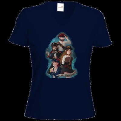 Motiv: T-Shirts Damen V-Neck FAIR WEAR - Gronkh - HWS Crew