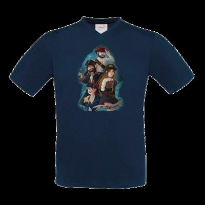 Motiv: T-Shirt V-Neck FAIR WEAR - Gronkh - HWS Crew