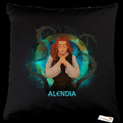 Motiv: Kissen Baumwolle - Alendia - Logo