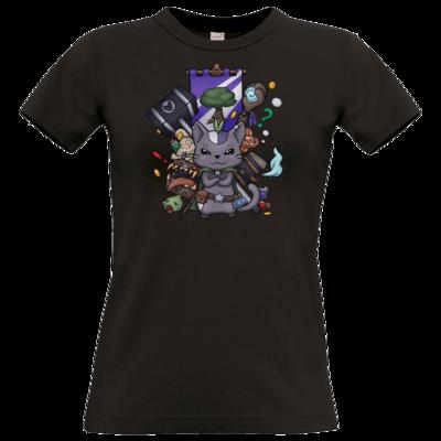 Motiv: T-Shirt Damen Premium FAIR WEAR - CatBerry - MMO