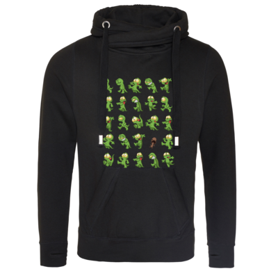 Motiv: Cross Neck Hoodie - Gronkh - Walking Lurchs