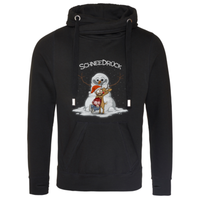 Motiv: Cross Neck Hoodie - Schneedrueck