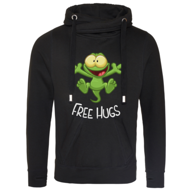 Motiv: Cross Neck Hoodie - FreeHugs