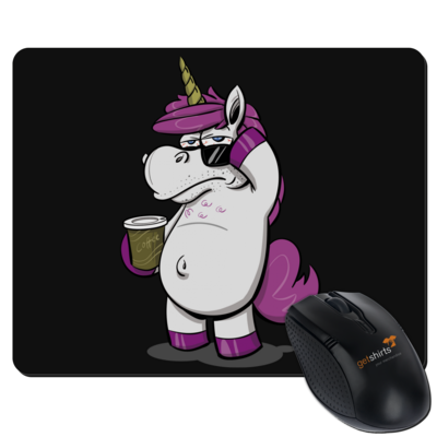 Motiv: Mousepad Textil - drawinkpaper - Hank the Unicorn