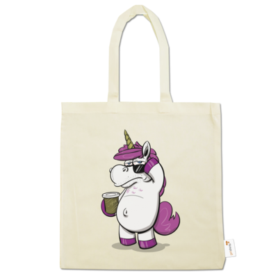 Motiv: Baumwolltasche - drawinkpaper - Hank the Unicorn