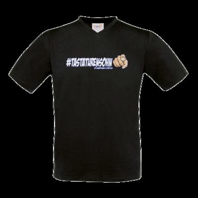 Motiv: T-Shirt V-Neck FAIR WEAR - Kampfkunst Lifestyle - Tastaturensohn