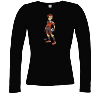 Motiv: Longsleeve Damen FAIR WEAR - LootBoy - Kick it like me
