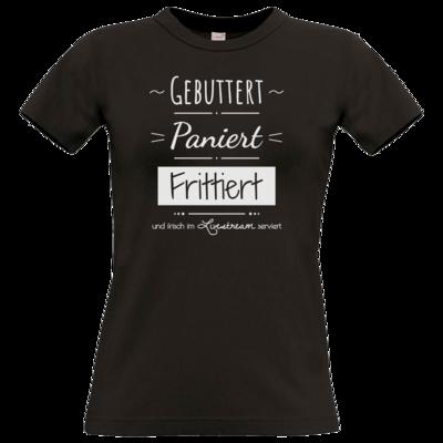 Motiv: T-Shirt Damen Premium FAIR WEAR - Gebuttert & Paniert