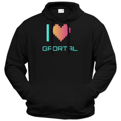 Motiv: Hoodie Premium FAIR WEAR - I Love GPORTAL