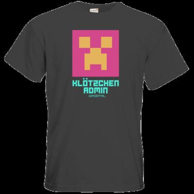 Motiv: T-Shirt Premium FAIR WEAR - Kloetzchen Admin