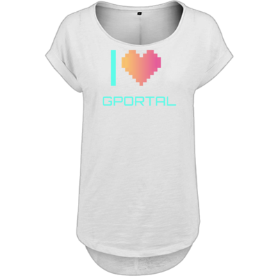 Motiv: Ladies Long Slub Tee - I Love GPORTAL