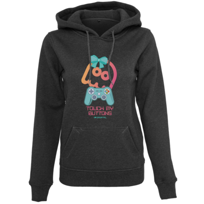 Motiv: Womens Heavy Hoody - Touch My Buttons