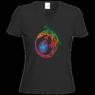 Motiv: T-Shirts Damen V-Neck FAIR WEAR - Götter - Tsa - Symbol