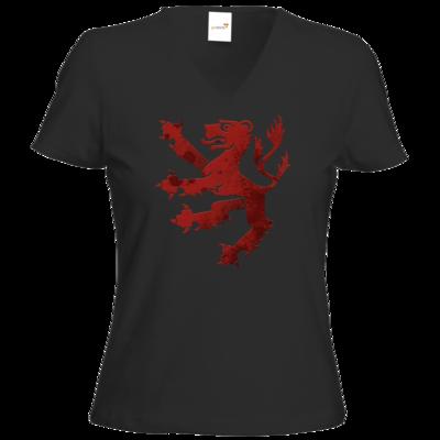 Motiv: T-Shirts Damen V-Neck FAIR WEAR - Götter - Rondra - Symbol