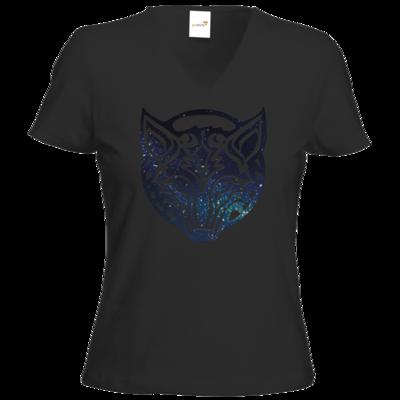 Motiv: T-Shirts Damen V-Neck FAIR WEAR - Götter - Phex - Symbol