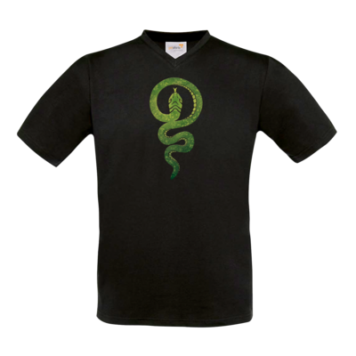 Motiv: T-Shirt V-Neck FAIR WEAR - Götter - Hesinde - Symbol