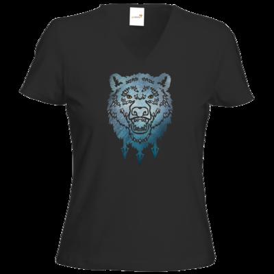 Motiv: T-Shirts Damen V-Neck FAIR WEAR - Götter - Firun - Symbol