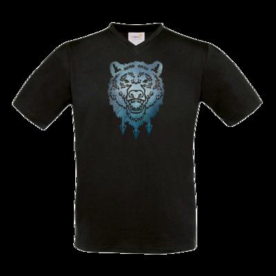 Motiv: T-Shirt V-Neck FAIR WEAR - Götter - Firun - Symbol
