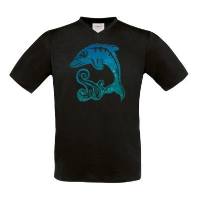 Motiv: T-Shirt V-Neck FAIR WEAR - Götter - Efferd - Symbol