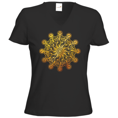 Motiv: T-Shirts Damen V-Neck FAIR WEAR - Götter - Bund des wahren Glaubens -Symbol