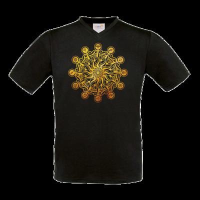 Motiv: T-Shirt V-Neck FAIR WEAR - Götter - Bund des wahren Glaubens -Symbol