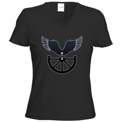Motiv: T-Shirts Damen V-Neck FAIR WEAR - Götter - Boron - Symbol