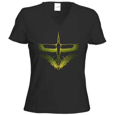 Motiv: T-Shirts Damen V-Neck FAIR WEAR - Götter - Peraine - Symbol