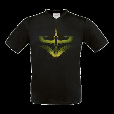 Motiv: T-Shirt V-Neck FAIR WEAR - Götter - Peraine - Symbol