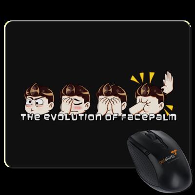 Motiv: Mousepad Textil - Softwerker Facepalm Evolution