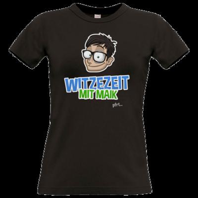 Motiv: T-Shirt Damen Premium FAIR WEAR - Witzezeit mit Maik