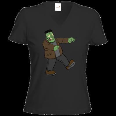 Motiv: T-Shirts Damen V-Neck FAIR WEAR - Frankenbob