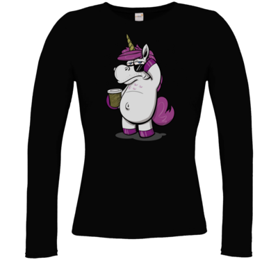 Motiv: Longsleeve Damen FAIR WEAR - drawinkpaper - Hank the Unicorn