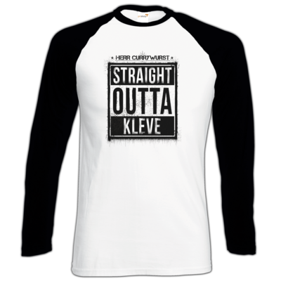 Motiv: Longsleeve Baseball T - Curry - Straight Outta Kleve