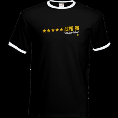 Motiv: T-Shirt Ringer - Walter Weiss - LSPD 99