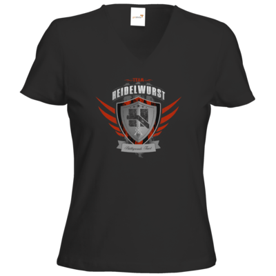 Motiv: T-Shirt Damen V-Neck Classic - Team Heidelwurst