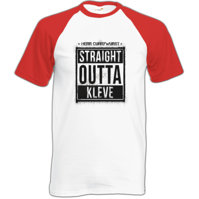 Motiv: Baseball-T FAIR WEAR - Curry - Straight Outta Kleve