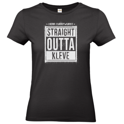 Motiv: T-Shirt Damen Premium FAIR WEAR - Curry - Straight Outta Kleve