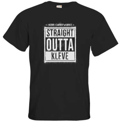 Motiv: T-Shirt Premium FAIR WEAR - Curry - Straight Outta Kleve