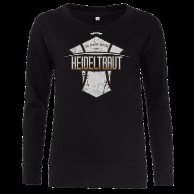 Motiv: Girlie Sweatshirt - Heidelwurst Merch - Heideltraut - Slogan