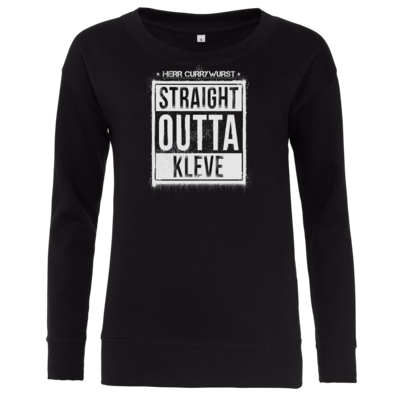 Motiv: Girlie Sweatshirt - Curry - Straight Outta Kleve