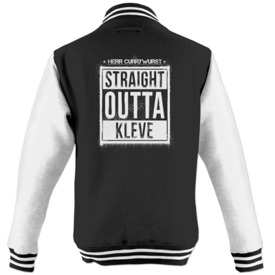 Motiv: College Jacke - Curry - Straight Outta Kleve