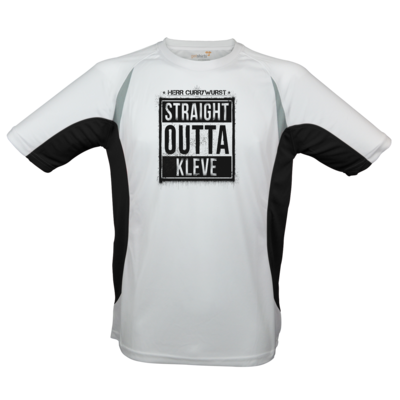 Motiv: Laufshirt Running T - Curry - Straight Outta Kleve