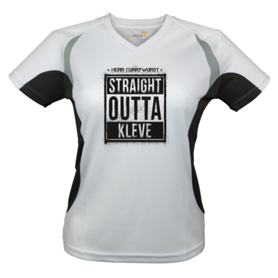 Motiv: Laufshirt Lady Running T - Curry - Straight Outta Kleve