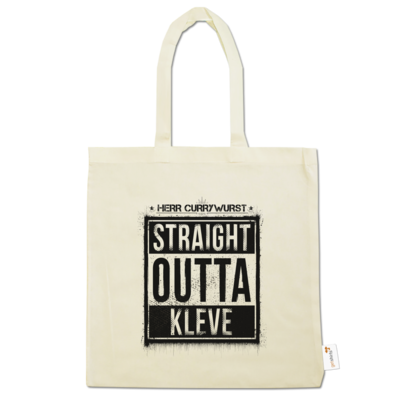 Motiv: Baumwolltasche - Curry - Straight Outta Kleve