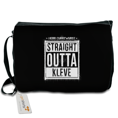 Motiv: Schultertasche - Curry - Straight Outta Kleve