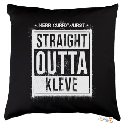 Motiv: Kissen Baumwolle - Curry - Straight Outta Kleve