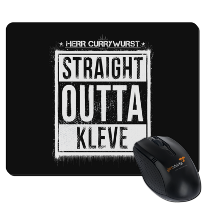 Motiv: Mousepad Textil - Curry - Straight Outta Kleve
