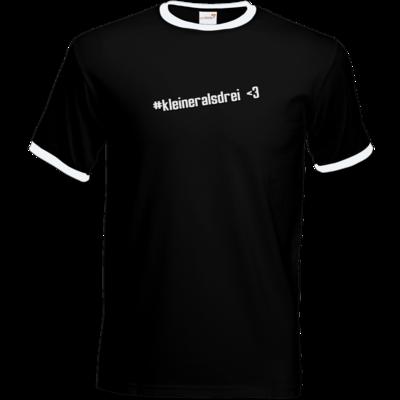 Motiv: T-Shirt Ringer - DerPeci - kleiner als drei