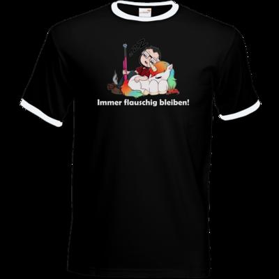 Motiv: T-Shirt Ringer - Immer flauschig bleiben