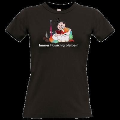 Motiv: T-Shirt Damen Premium FAIR WEAR - Immer flauschig bleiben
